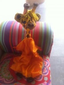 giraf marionnette